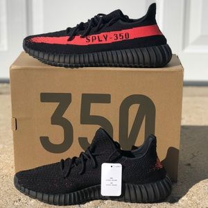 adidas Shoes - Adidas Yeezy Boost 350 Core Black/Red.  All sizes